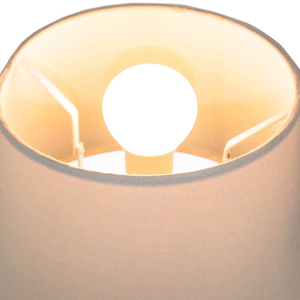 In Cotone Bianco Adatto Per Lampada Da Tavolo O Lampadario 12\\ 60 W Massimo da Happy Homewares Tradizionale Paralume Coolie