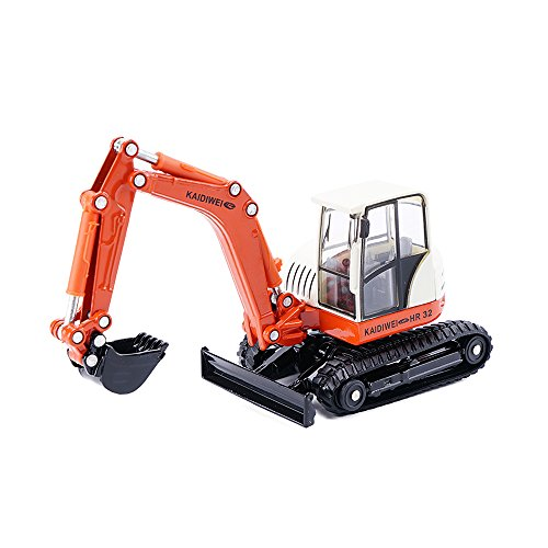 KDW 1/50 Scale Diecast Mini Excavator Model Toys for Boys Red (Crawler Excavator)