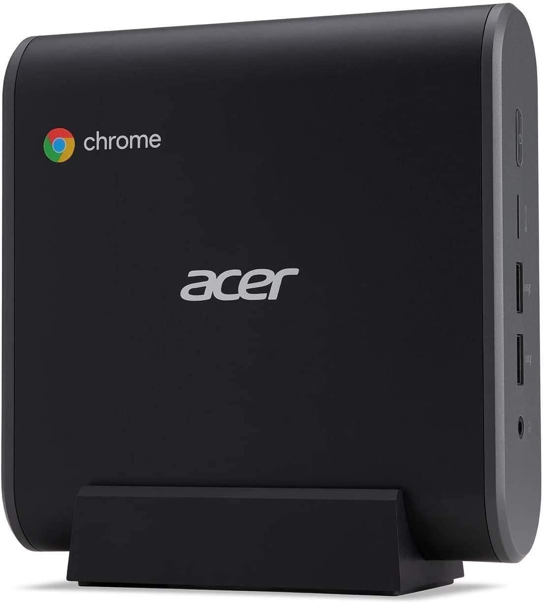 Acer Chromebox CXI3 Mini PC Desktop Computer, Intel Celeron 3867U Processor 1.8GHz, 4GB DDR4, 128GB SSD, Online Class Ready, USB Type-C, Chrome OS, Keyboard and Mouse Included, BROAGE 64GB Flash Drive