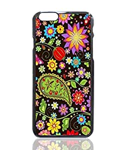 Colorful Paisley & Flowers Custom Hard Plastic back cell Phones Case for Apple iphone6 - iphone 6 4.7 inch Case Cover