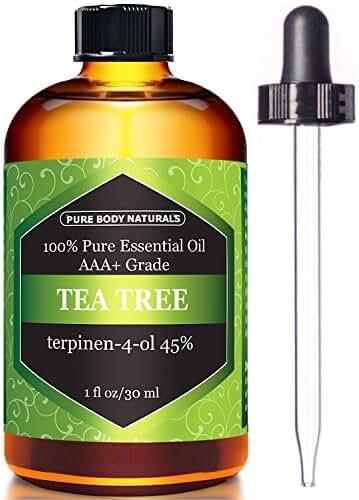Pure Body Naturals Tea Tree Oil, 1 FL. OZ.