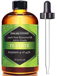 Pure Body Naturals Tea Tree Essential Oil, 1 Fluid Ounce
