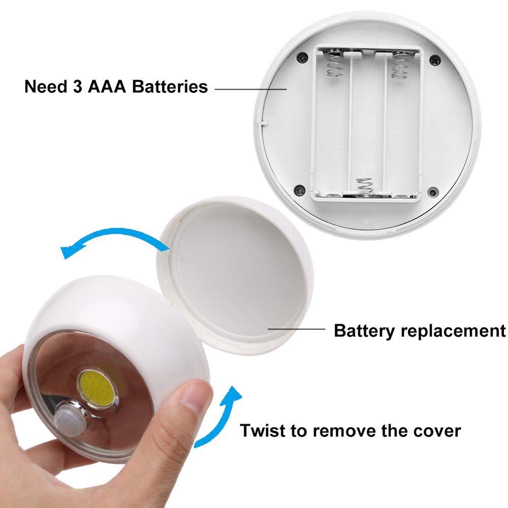 Pochers Drahtlose Nachtlicht PIR Motion Auto Sensor LED Lampe Leuchtet Batteriebetrieben keine Batterie