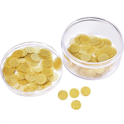 Mudder 150 Pieces Pipe Screen Filters Brass Pipe Screens Pipe Bowl Screens with Storage Box (1/ 2 ()
