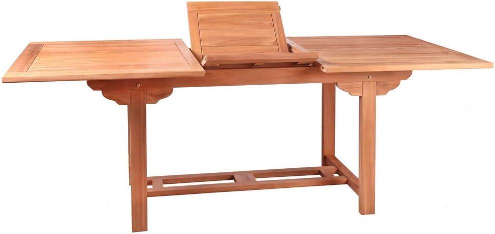 Mesa de jardín Extensible de Teca marrón Garden - LOLAhome