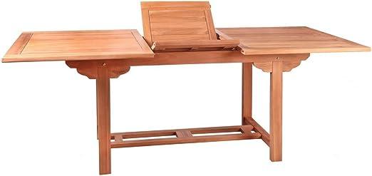 Mesa de jardín Extensible de Teca marrón Garden - LOLAhome: Amazon.es: Hogar