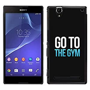 Impact Case Cover with Art Pattern Designs FOR Sony Xperia T2 Ultra Exercise Motivation Minimalist Text Betty shop