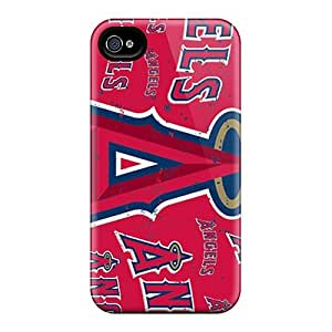 Flexible Tpu Back Case Cover For Iphone 5s- Los Angeles Angels