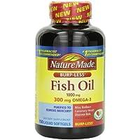 Nature Made Burp-less Fish Oil Liquid Softgels