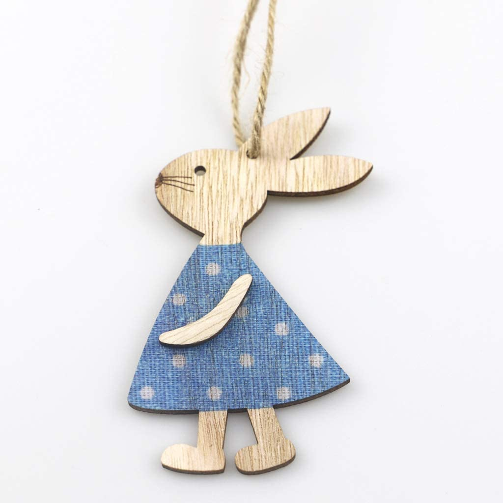 joyMerit Kleine Osterhasen Geschenkanh/änger zum Aufh/ängen Osterschmuck Hasen Zierdeko Blau