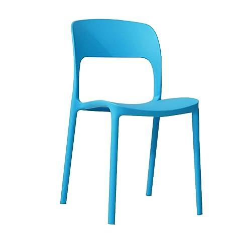 LXQGR Mesa de Comedor y sillas, Silla de plástico para ...