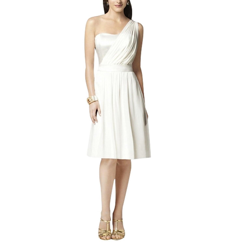 Judi Dench@ Damen Chiffon Ein-Schulter Abendkleid Ballkleid Hochzeit ...
