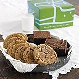 Dancing Deer Fresh Baked Gourmet Brownie (4) & Cookie (8) in a Fun Gift Box