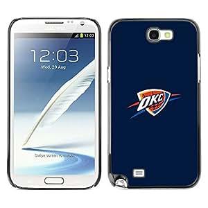 OKC Basket - Metal de aluminio y de plástico duro Caja del teléfono - Negro - Samsung Note 2 N7100