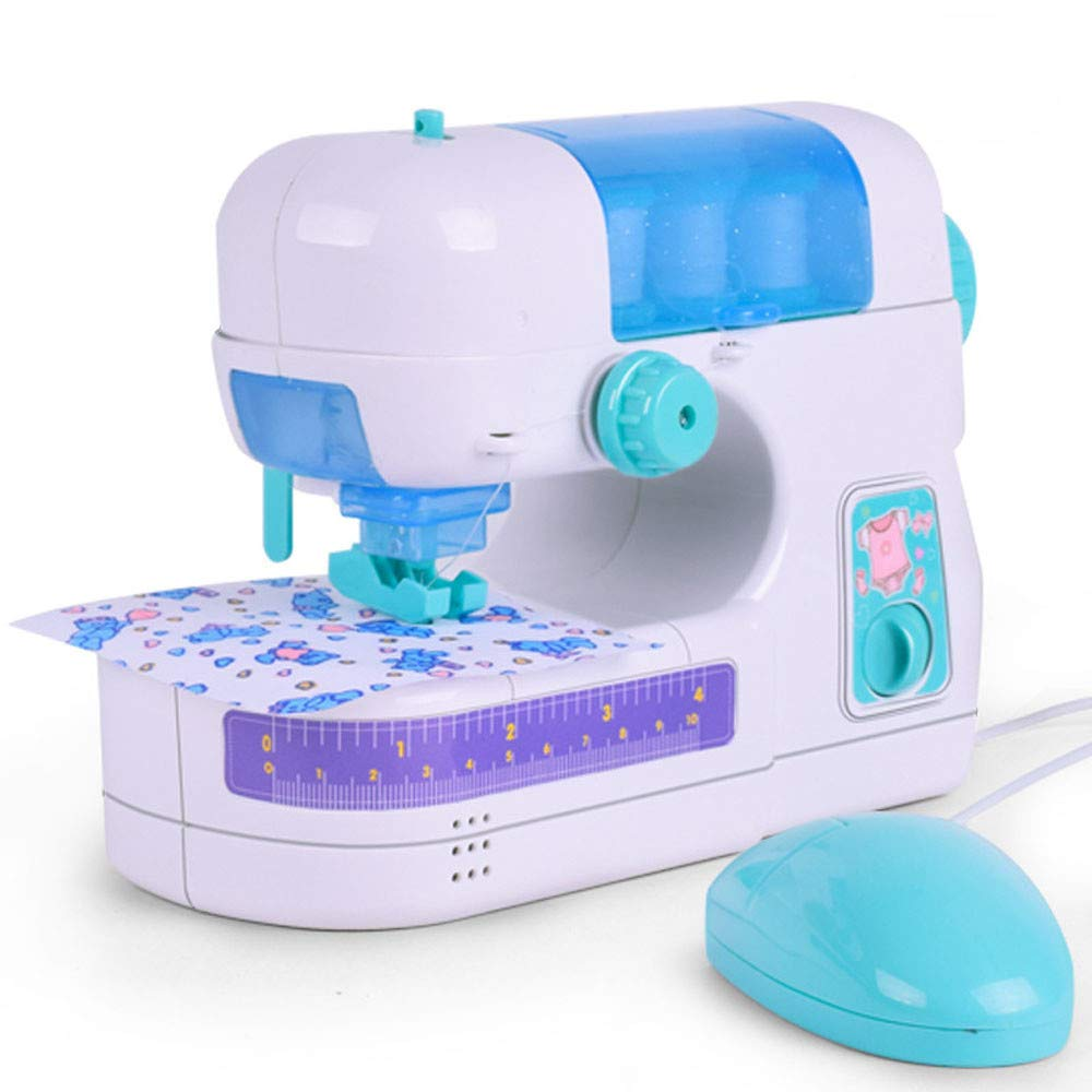 Hellofishly Electric Sewing Studio Machine, Children Present Portable Crafting Mending Machine