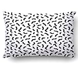 Emvency Pillow Covers Decorative Abstract Geometric Pattern In Retro Memphis Style Fashion Bulk With Zippered 20x30 Queen Size Pillow Case For Home Bed Couch Sofa Car One Sided