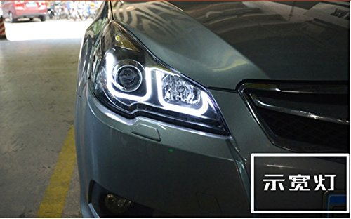 GOWE Car Styling For Subaru Outback 2010-2014 for Outback head lamp LED DRL Lens Double Beam D2H HID Xenon bi xenon lens Color Temperature:8000K;Wattage:35K 2
