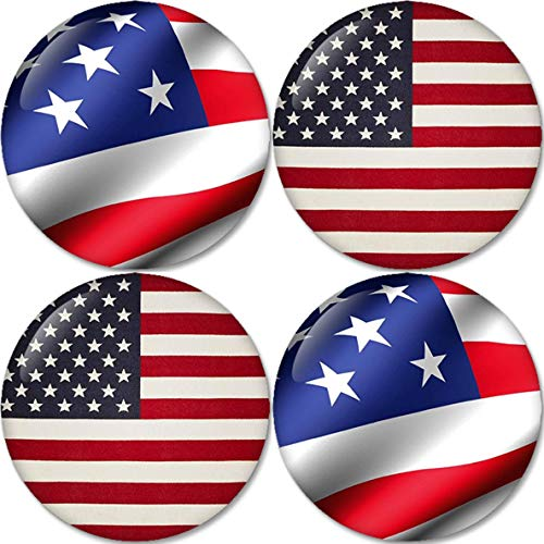 (American Flag Set 03 Buttons Badges/Pin 1.25 Inch (32mm))