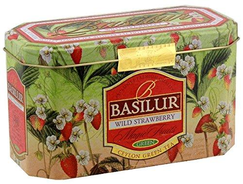 Basilur | WIld Strawberry Tea | Ceylon Green Tea | Magic Fruits Collection | 20 Count Foil Enveloped - Tin Caddy