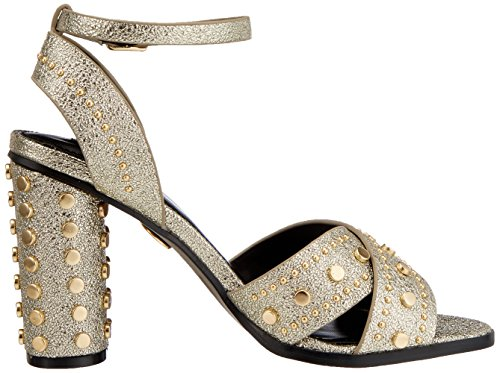 Damen 316 Pu Gold Riemchensandalen 1 Buffalo 0566 01 Leather Gold 7ZCgcwUfq