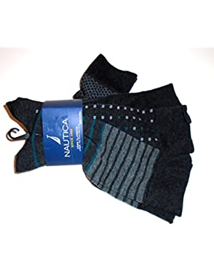Crew Classics Casual All Day Comfort Dress Socks-4 Pairs Designer Greys