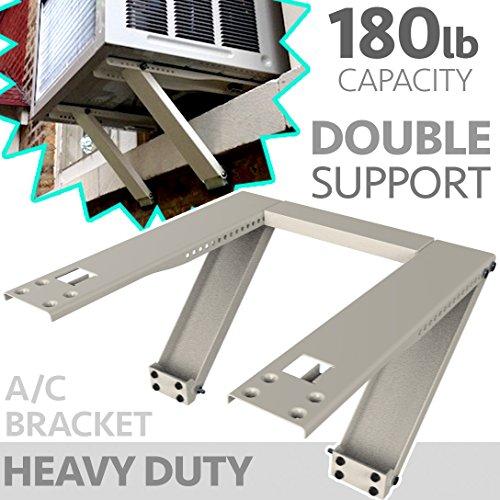 Universal Window Air Conditioner Bracket - Heavy-Duty Window AC Support - Support Air Conditioner Up to 180 lbs. - For 12000 BTU AC to 24000 BTU AC Units (HEAVY DUTY)