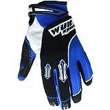 Wulfsport Kids Gloves Pair Stratos MX Junior Motocross Quad Biking (XXS 6-9 Years, Blue)