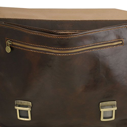 Leather Brown Firenze Tuscany Leather Dark 2 briefcase compartments Dark Brown qERx4wv