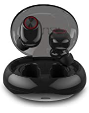 Ecouteur Bluetooth, Muzili Ecouteur sans Fil Léger Stéréo TWS 500mAh Boîtier de Charge 25Heure Play IPX6 Casque Sport Étanche Confortable Oreillette Bluetooth Haute Fidélité Micro Intégré iOS Android