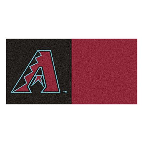 (MLB Arizona Diamondbacks Team Carpet Tile Flooring Squares, 20-PC Set )