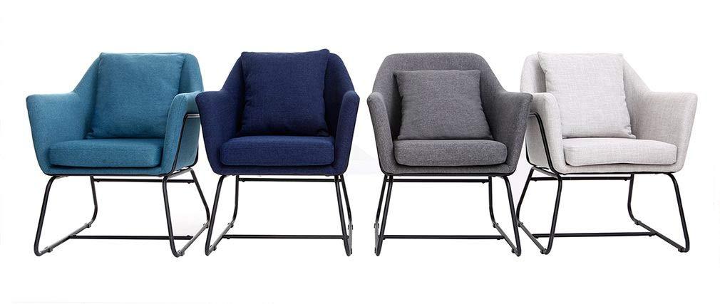 Miliboo sillones Monroe fauteuil Tissu et Métal: Amazon.es ...