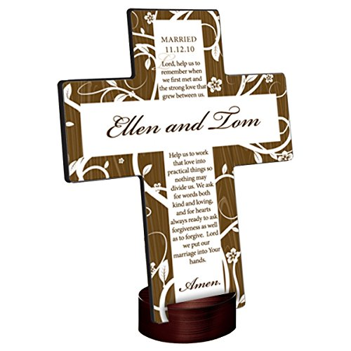 Personalized Tree of Life Cross - Marriage Prayer ()