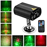 Laser Party Lights with Vivid LED Background, Sound Activated, Stage Laser and LED