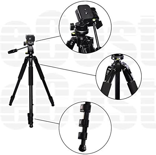 72 Inch Elite Series Professional Heavy Duty Convertible Tripod//Monopod for DSLR Cameras//Camcorders /& eCostConnection Microfiber Cloth