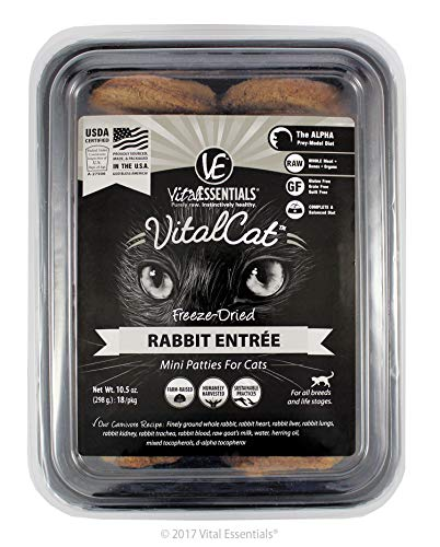 (Vital Cat Freeze Dried Rabbit Mini Patties for Cat, 1 Pack)