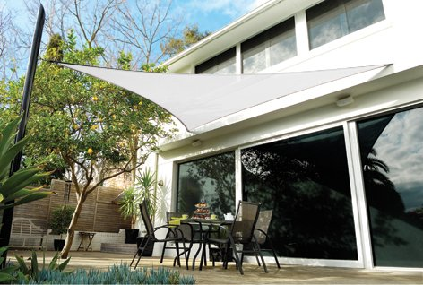 San Diego Sail Shades 20'x20'x20' Triangle (White) - Heavy Duty Commercial Grade Shade Sail (San Diego Fence)