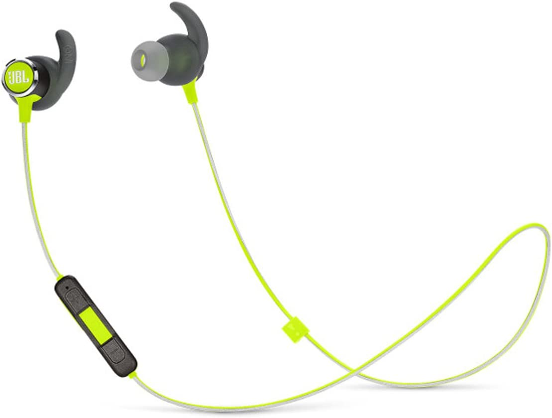 JBL Reflect Mini 2.0, in-Ear Wireless Sport Headphone with 3-Button Mic Remote – Green, One Size