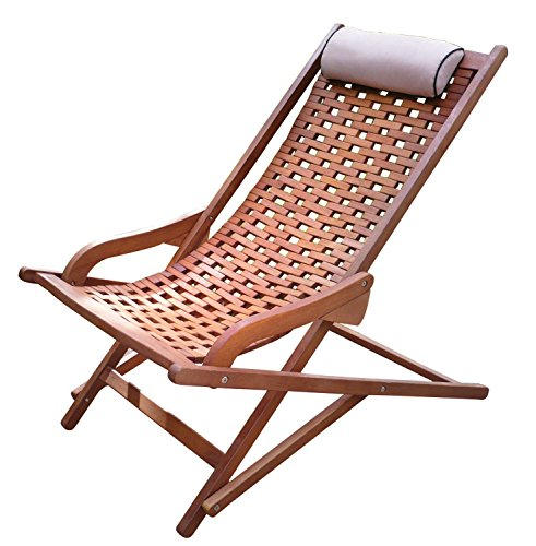 The Original Eucalyptus Swing Lounger  with Pillow - Fully Assembled Lounger Made from sustainable plantation grown Brazilian eucalyptus Folds for portability and storage - patio-furniture, patio-chairs, patio - 518HTdy8M%2BL -