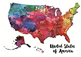 BeLoved Scratch off Map of the USA. Travel Map New Design. Modern Wall Decor!!! Track your Adventures. USA POSTER. Your Country Your Trips! BEST GIFT IDEA for everyone!