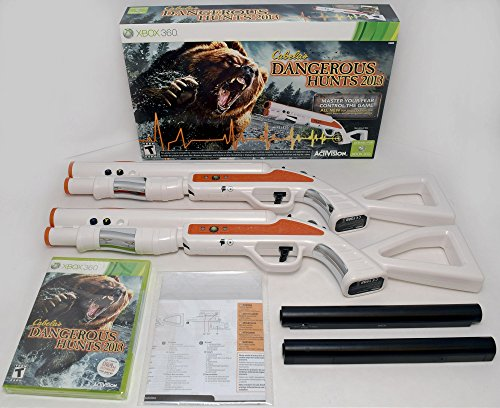 XBox 360 Cabela's Dangerous Hunts 2013 2-GUN BUNDLE Hunting Game Top Shot Fearmaster