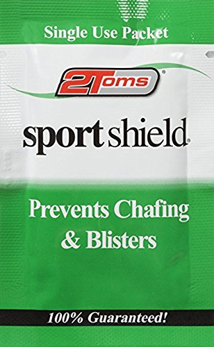 (2Toms SportShield - Anti-Chafe and Blister Prevention for Your Body, Sweatproof and Waterproof, Prevent Skin Irritation from Chafing, Single Use Towelettes (10-Pack))
