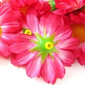 """(12) Silk Hot Pink Gerbera Daisy Flower Heads , Gerber Daisies - 1.75"""" - Artificial Flowers Heads Fabric Floral Supplies Wholesale Lot for Wedding Flowers Accessories Make Bridal Hair Clips Headbands Dress 2"""