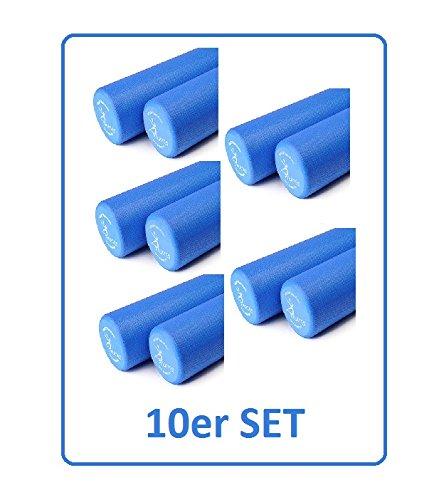 Sissel 10er Set Pilates Roller Pro in Original Karton - Fitness Rolle, blau (100 cm)