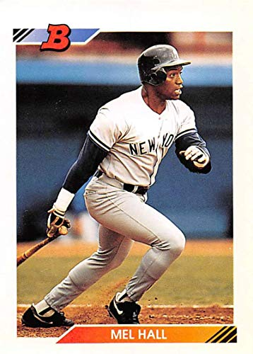 1992 Bowman Baseball #425 Mel Hall New York Yankees Official MLB Trading Card from Topps