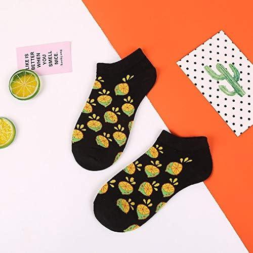 Mens athletic low cut Ankle sock Pineapple Cat Avocado Watermelon Short Fit Sock