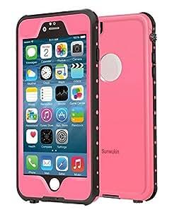 Sunwukin Fundas Impermeable para iPhone 6S/iPhone 6 4.7 Carcasa Negro (Rosa)