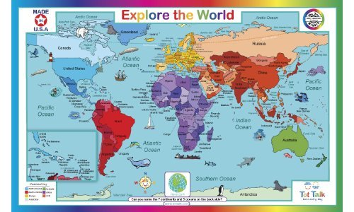Tot Talk Explore World Placemat product image
