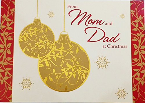 From Mom and Dad At Christmas Greeting Card -