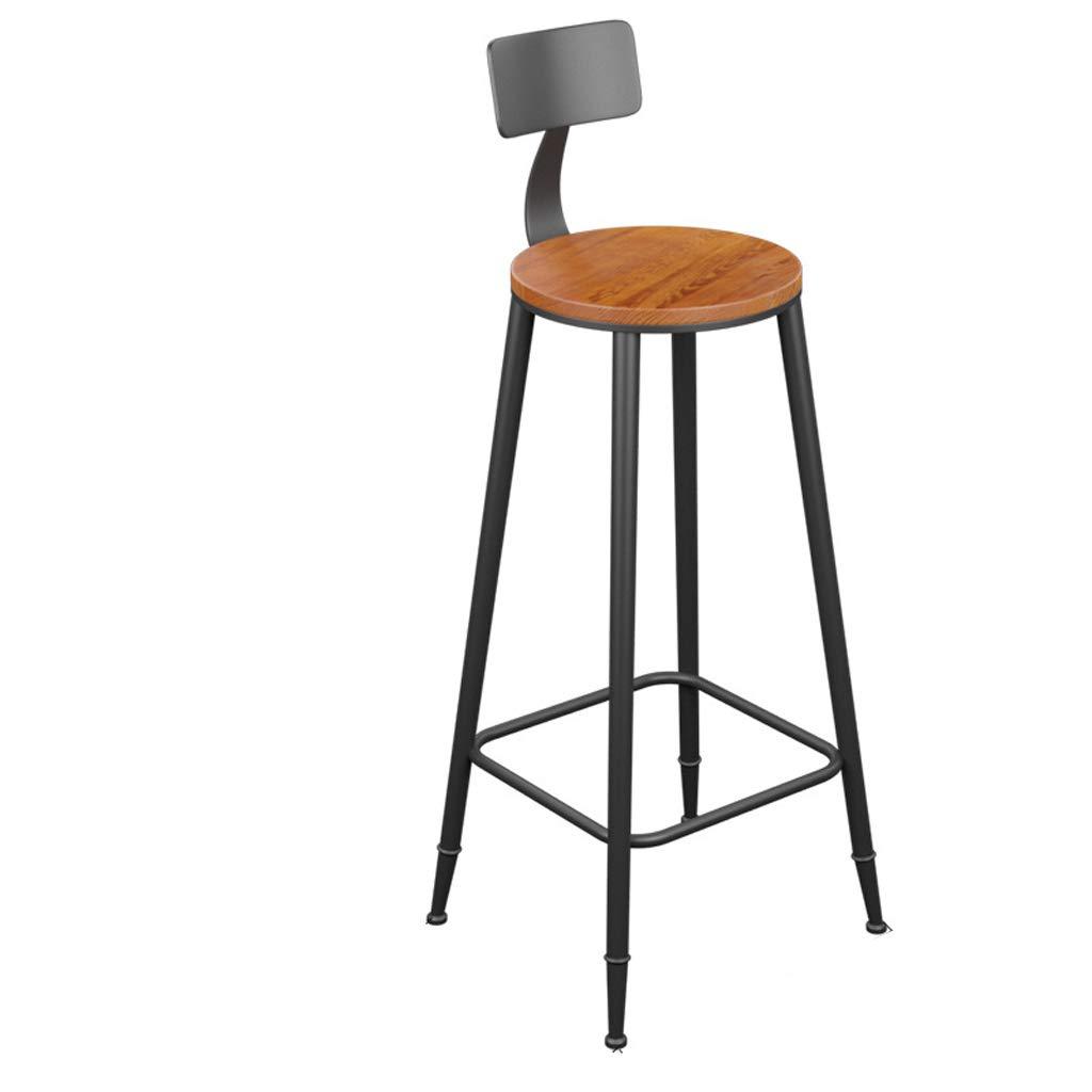 Sitting height85 Jiu Si- Iron Bar Stool Bar Stool High Bar Chair High Stool High Chair Bar Stool Bar Chair Back Front Chair bar Chair (Size   Sitting height60)