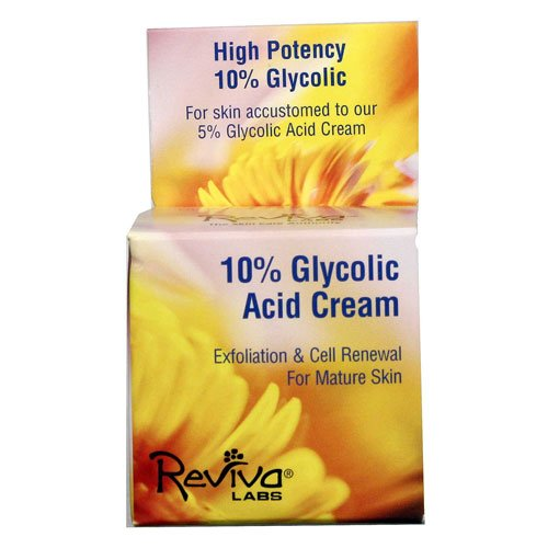 Reviva Labs Night Creams 10% Glycolic Acid Cream 1.5 oz. (a) - 2pc